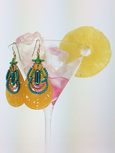 Earrings & cocktails!