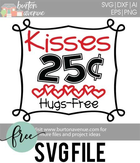 Make a super cute Valentine t-shirt for your little one with this free SVG file. This free Valentine SVG file will work with Silhouette, Cricut, and other electronic cutters.