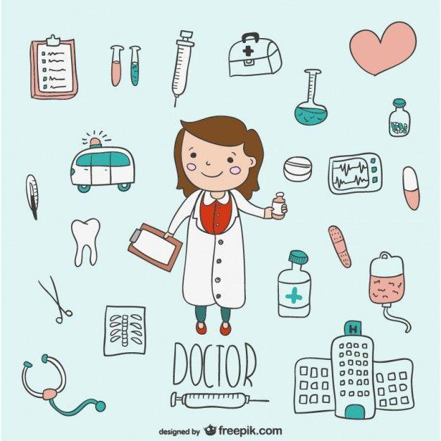 Vectores de hospital dibujados a mano Vector Gratis