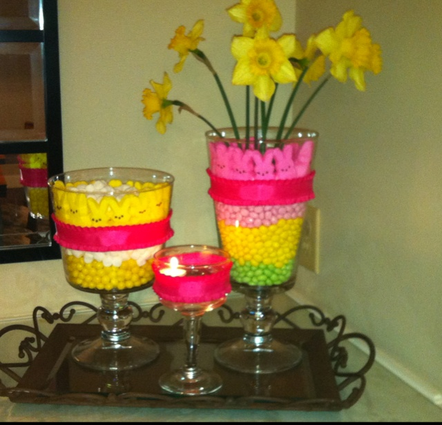 fun easter centerpiece with some of my favorite willow house pieces
