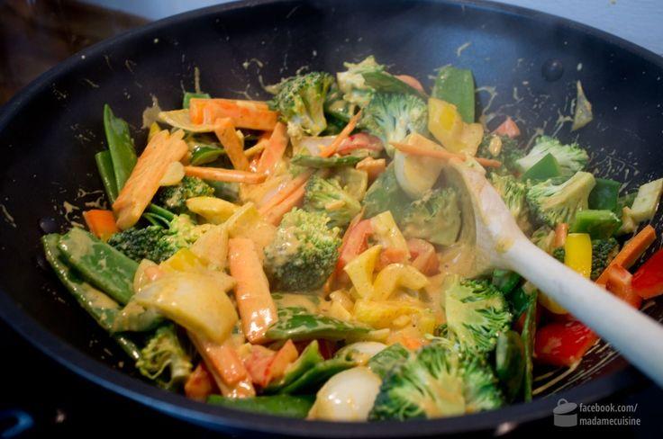 Gelbes Thai-Curry (vegetarisch)   Madame Cuisine Rezept