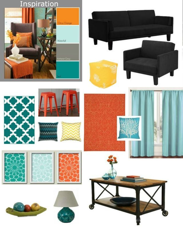 Cheap Living Room Makeover. Furniture: Futon And Chair At
