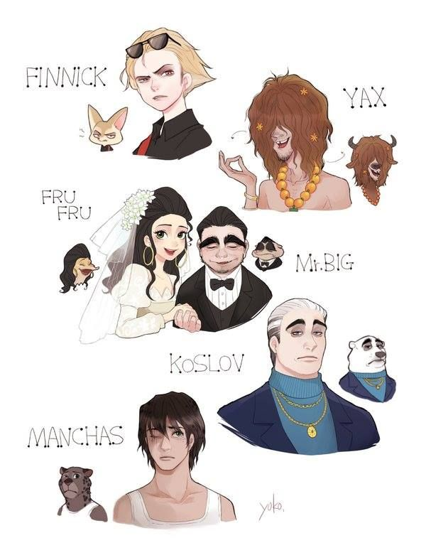 Finnick, Yax,Fru Fru, Mr.Big, Koslov and Manchas