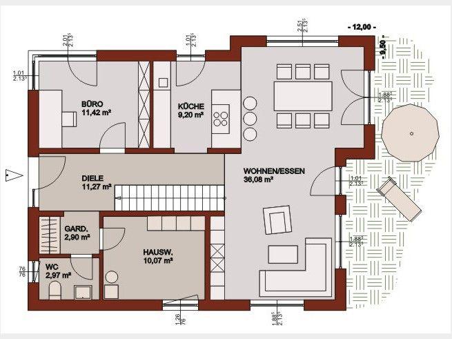Einfamilienhaus neubau modern grundriss  153 besten Grundriss Bilder auf Pinterest | Grundrisse, Haus ...