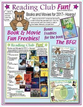 FREE! - 2017 MOVIES & BOOKS! Check out our latest list of books & movies. Last summer, Roald Dahl's book, The BFG (Big Friendly Giant), was released as a film. Includes: The Characters and Places in The BFG word search; fun crossword puzzle; and a Venn Diagram to use to compare the book and the movie!