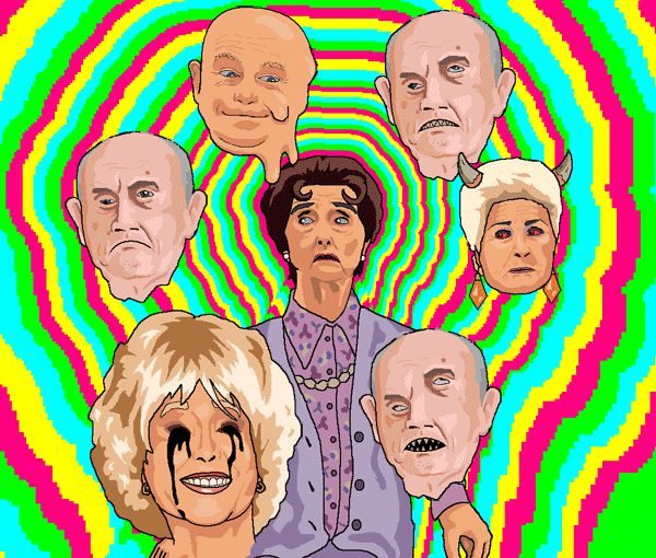 Dot Cotton Having a Really Bad Trip By Jim'll Paint It