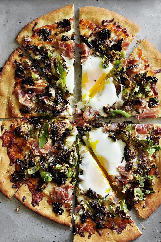 Brussels Sprouts and Pancetta Pizza | thecandidappetite.com