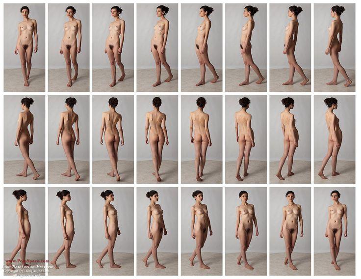 Art Models Trisha in a walk rotation in miniature. Female nude ...
