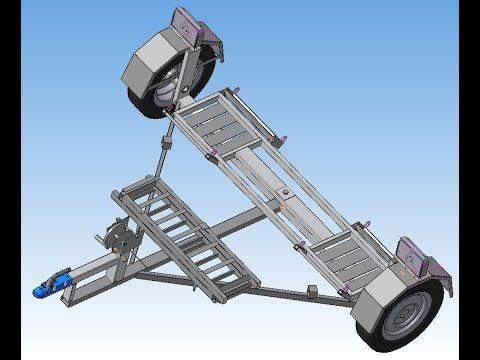 Прицеп с ПТС для эвакуации легковых автомобилей методом частичной погрузки  Производство БАГЕМ
