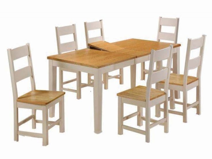 Cotswold Cream & Oak Extending Dining Set | Dining Sets from FADS (£380)