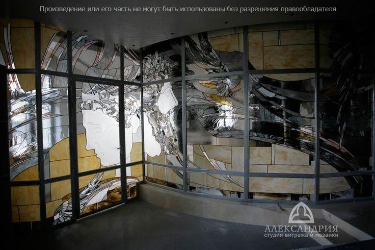 витражная перегородка «Греческая мифология» , квартира на Арбате