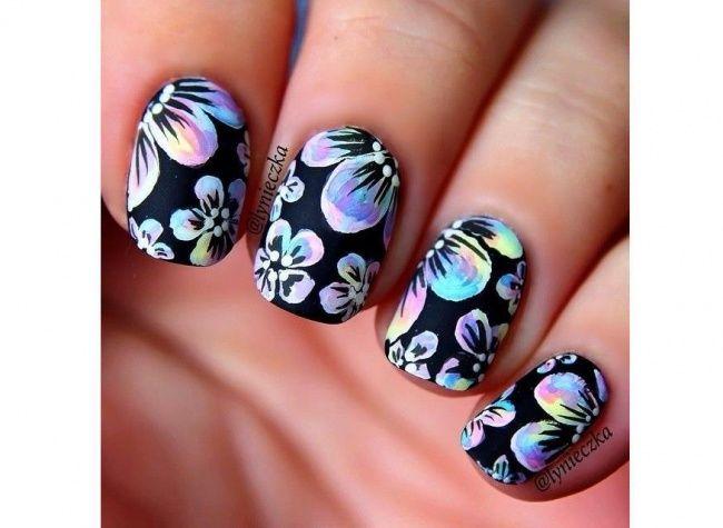 Znalezione obrazy dla zapytania paznokcie w kwiaty