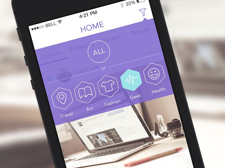 Homepage of Yj app by 7Ree