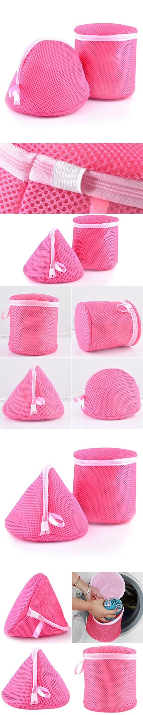 Underwear Aid Bra Laundry Mesh Wash Basket Net Washing Storage Zipper Bag Christmas  Gift  6LNS