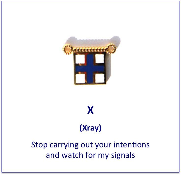 X (Xray) signal flag charm