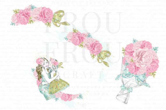 Mothers Day Fashion Illustration Clip Art Set Mothers Day Clipart, Baby Girl Clipart, Spring Clip Art, Mom Clipart, Watercolor Floral Clipart, Pastel Clipart, Pink Roses Clipart Fashion * * * Description: Set of high resolution clip art images. Instant Download. Youll receive: - 12