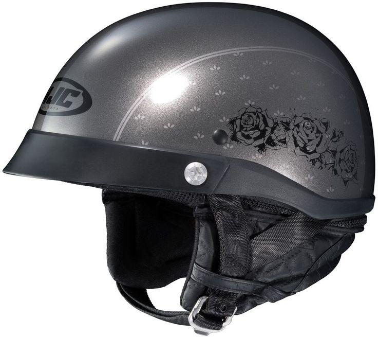 HJC CL-Ironroad Black Rose Womens Street DOT Motorcycle Helmets
