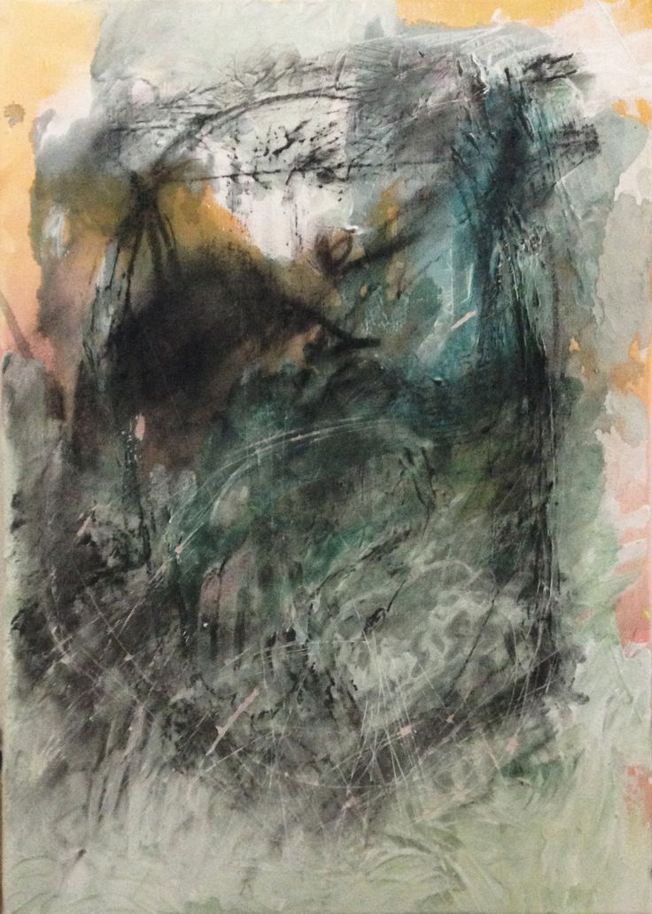 """Territories""; 90x70 cm; Mixed media; 2015"