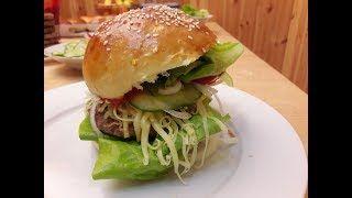 Hamburger húspogácsa házilag nagyevőknek. Retróburger. / Szoky konyhája /