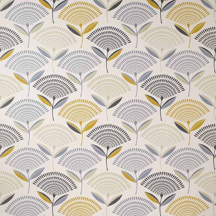 Warwick Fabrics : DANDELION, Colour SAFFRON