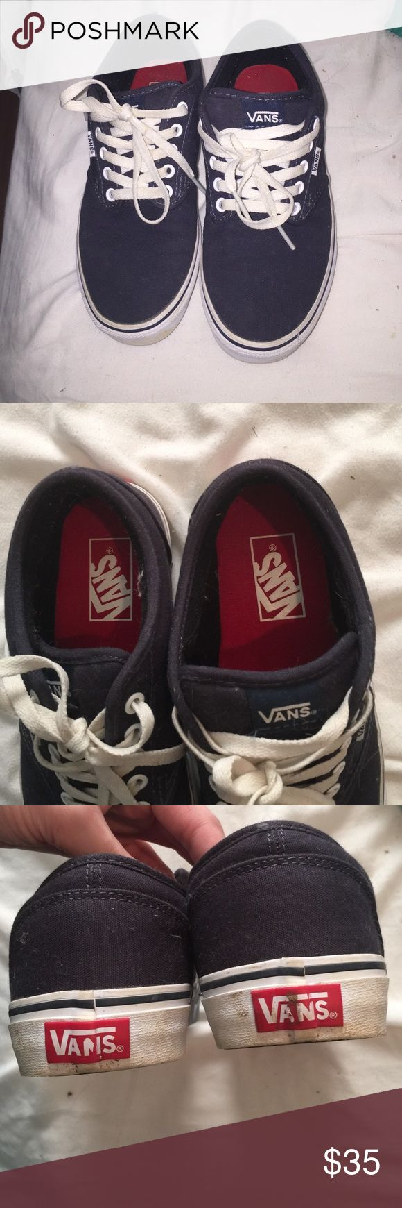 Navy Vans. Size 8 Been worn maybe twice. Great condition. Very comfortable. I have several other colors. I just didn't care for this color. Vans Shoes Sneakers