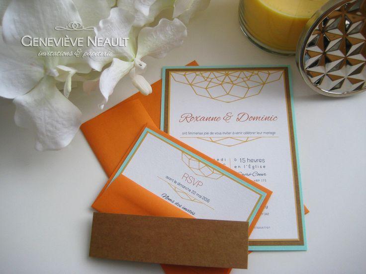 Style graphique et coloré - Invitation par Geneviève Neault   Invitations et papeterie