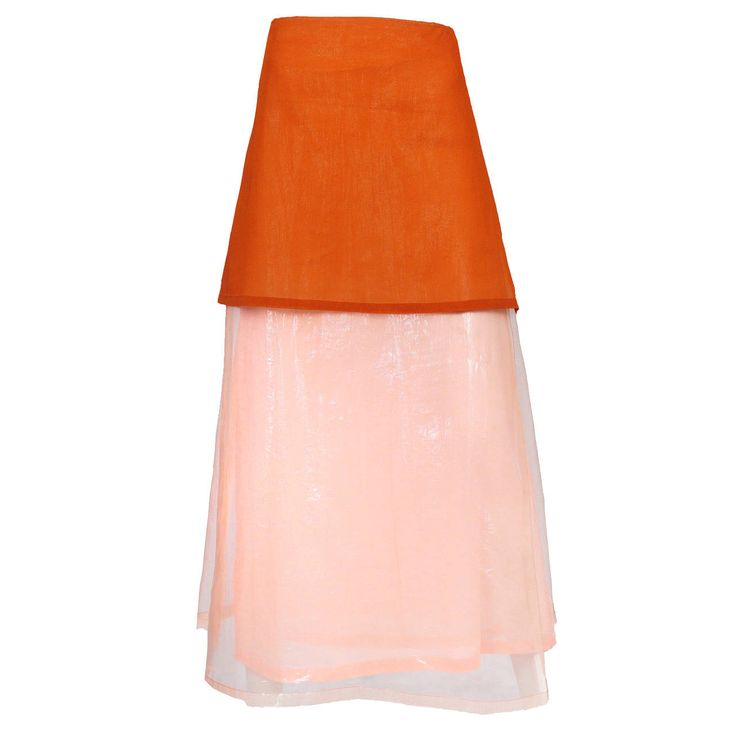 Issey Miyake Pink and Orange Maxi Skirt | See more vintage Skirts at http://www.1stdibs.com/fashion/clothing/skirts in 1stdibs