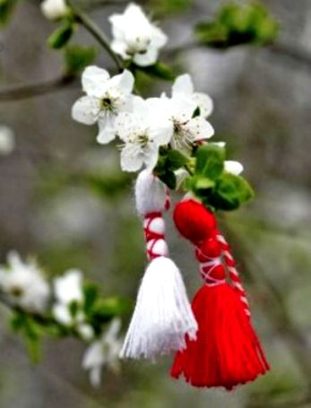 On the first day of #March and for a few days afterwards, Bulgarians exchange and wear white and red tassels, called #Martenitsa :) The tradition calls for wearing the Martenitsa until the person sees a stork or a blooming tree. Tthat is considered a harbinger of #spring!   #happybabamarta