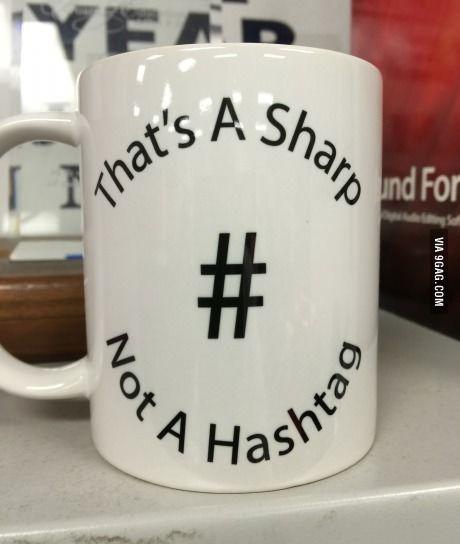 My orchestra teacher has a new favorite coffee mug