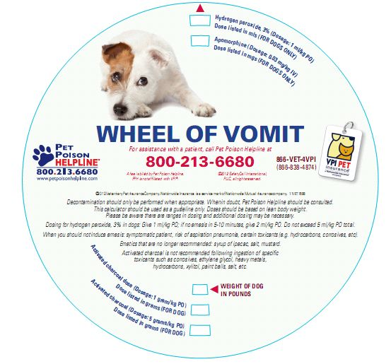 Be the first to order Pet Poison Helpline and VPI's Decontamination Wheel for your practice!  This convenient tool enables staff to quickly and correctly calculate the appropriate dosages of hydrogen peroxide and apomorphine for dogs as well as calculate an appropriate dose range for activated charcoal in both dogs and cats. To order a FREE ...continue reading