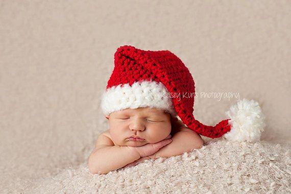 Newborn  5 Years Santa Hat by MySweetPeaProps on Etsy, $23.50