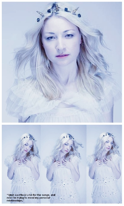 The talented Kate Miller-Heidke wearing Trelise Cooper's 'Creme Weaver' dress from their Spring 2013 Collection!
