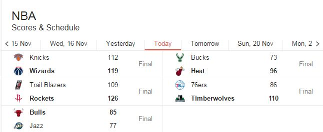 NBA schedule and FT scores. #NBA
