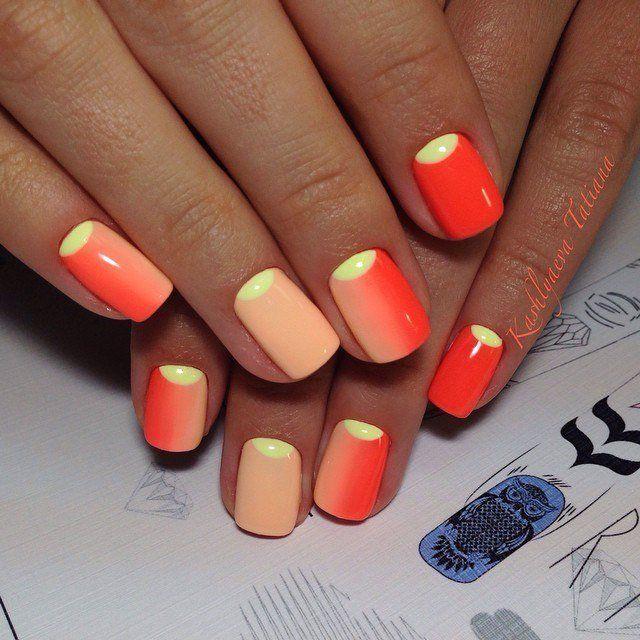 16 Super Cool Ombre Gradient Nail Art Tutorials: Best 25+ Bright Summer Nails Ideas On Pinterest