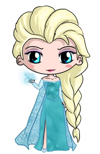 Elsa Chibi by IcyPanther1 on deviantART