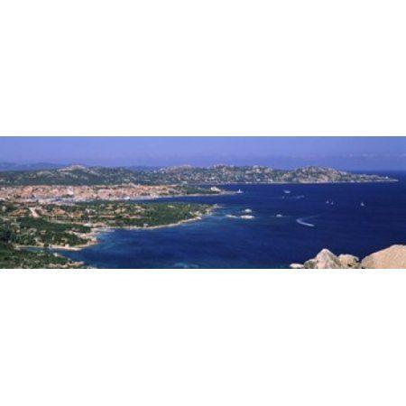 Island in the sea Capo DOrso Palau Sardinia Italy Canvas Art - Panoramic Images (36 x 12)