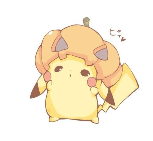 Pumpkin head Pikachu