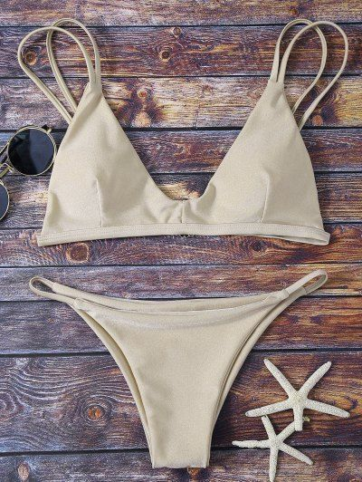 SHARE & Get it FREE | Bralette Bikini Top And String Bottoms - KhakiFor Fashion Lovers only:80,000+ Items • New Arrivals Daily Join Zaful: Get YOUR $50 NOW!