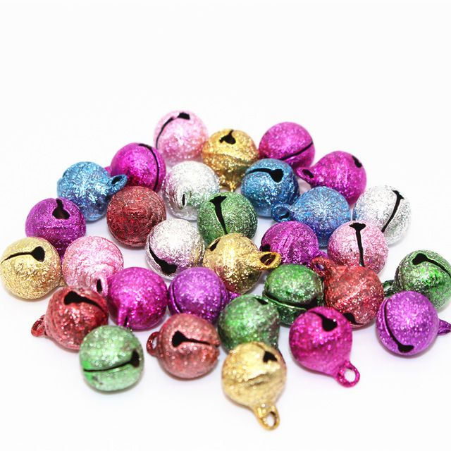 8 10 12mm Mix Color  Jingle Bell Small Bells Copper Metal Fit Festival Jewelry Pendants Charm Beads Christmas Jingle Bells