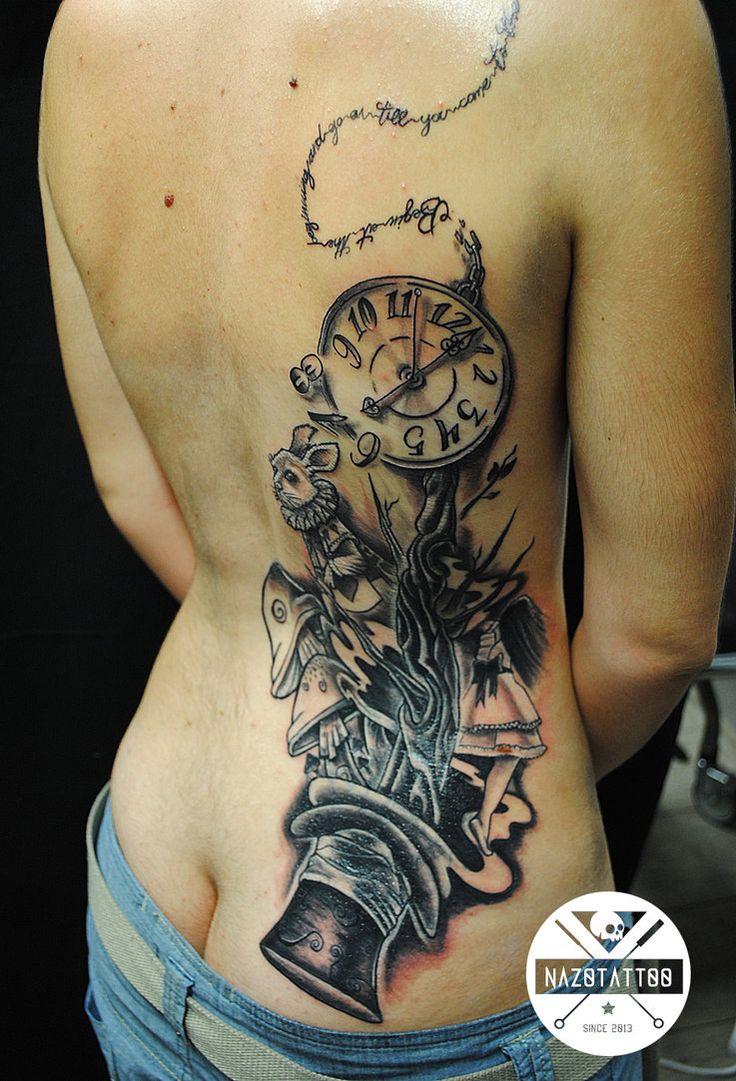 Alice in Wonderland Tattoo by nazotattoo