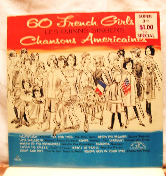 Amazing 60 French Girls LES DJINNS Singers by oldmagicchest