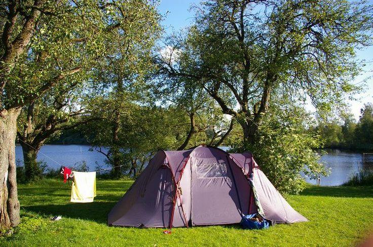 Idyllischer Camping am See trifft auf Bauernhof-Leben