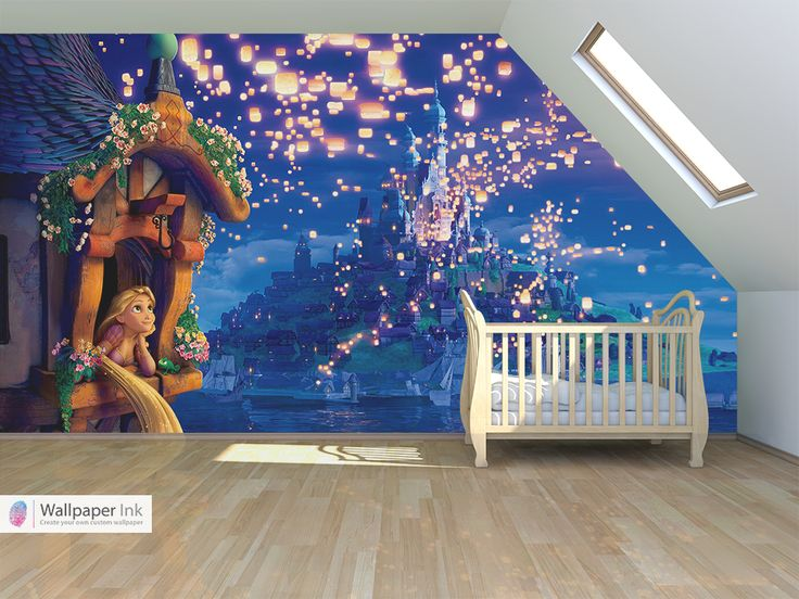 This is so lovely!! If tangled was around when I was a little girl I would have loved this in my bedroom