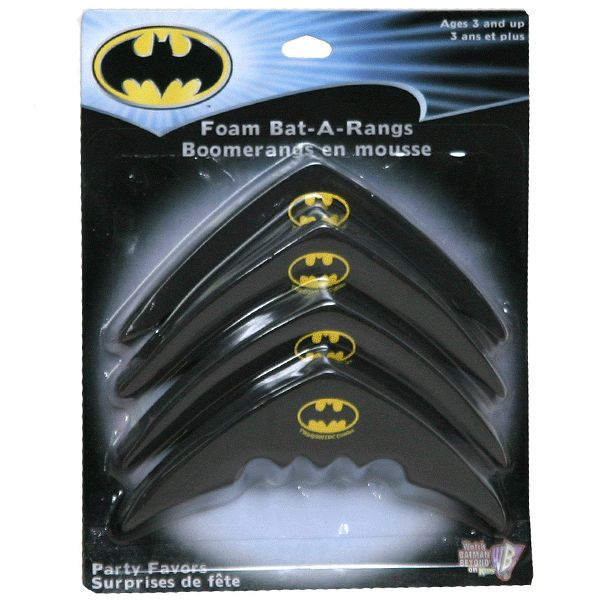 These Batman Foam Bat-a-rang (boomerang) Party Favors are sure to please your…