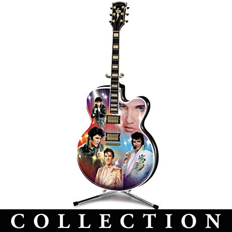 Elvis Presley Illuminated Guitar Collector Plate Collection