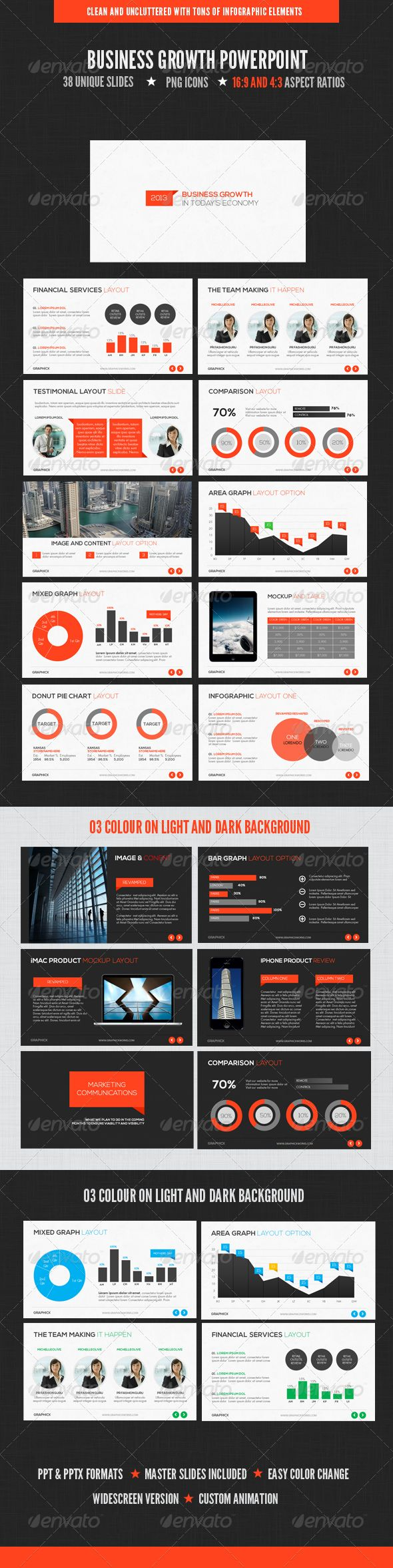 Business Growth Powerpoint - Powerpoint Templates Presentation Templates