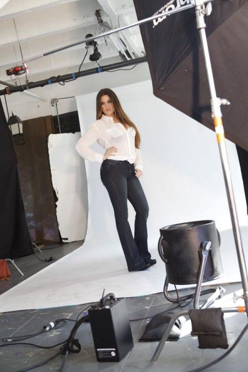 On set for the kardashian kollection denim photo shoot. These are the best jeans you will ever and created for real women with real figures - available now at www.threadsandstyle.com.au