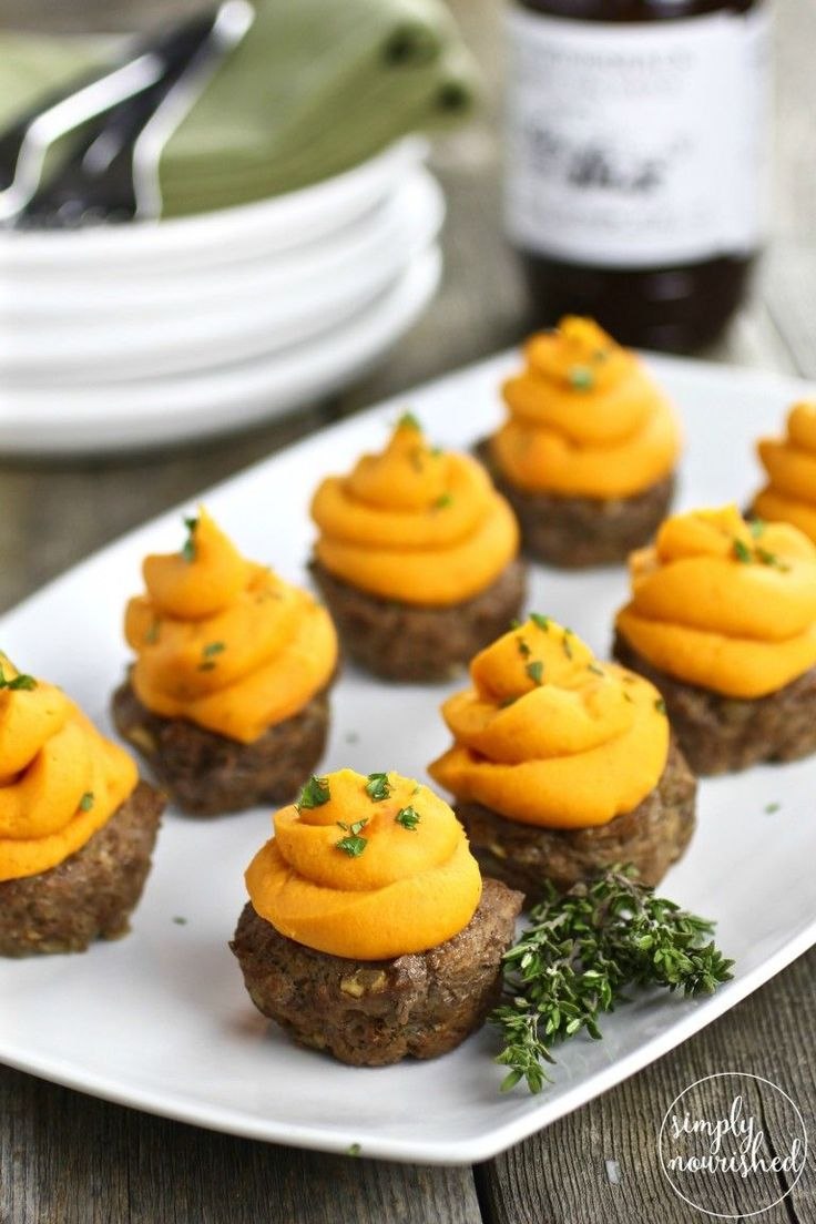 BBQ Meatloaf Muffins with Sweet Potato Topping | paleo dinner recipes | whole30 dinner recipes | gluten-free dinner recipes | egg-free dinner recipes | healthy dinner recipes || The Real Food Dietitians #whole30recipes #glutenfreeappetizer #glutenfreedinner #healthymeatloafrecipesbeef