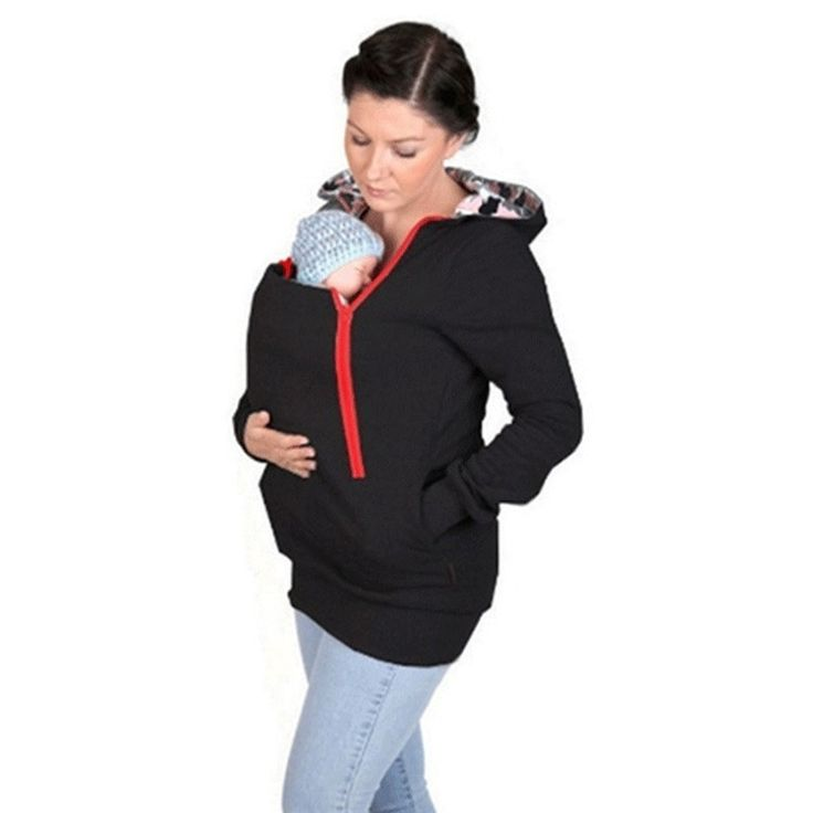 Multifunctional Maternity+Baby+Hoodies Pregnant Women Hoodies Carry Baby Sweatshirts Mom Zipper Coat