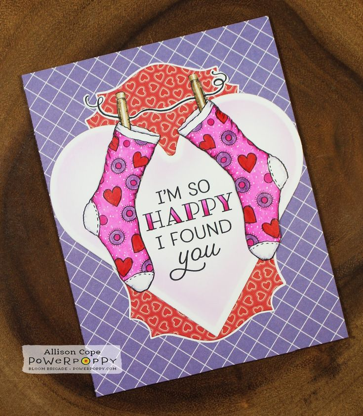 Happy Socks by Allison Cope featuring the digital stamp from the Va-Va-Valentine's stamp bundle.  Get it now for a special price of 6 images for only $6.00!